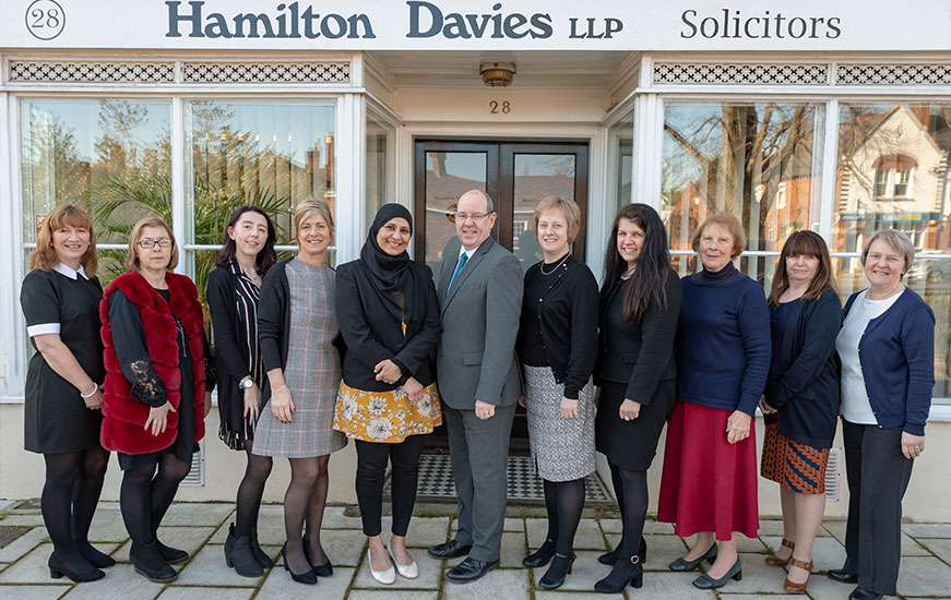 Staff at Hamilton Davies Solicitors - 2017